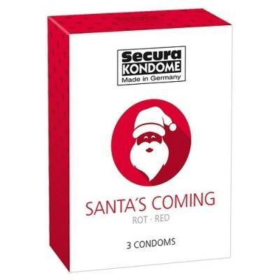 Komplet 3 kondomov Santa's Coming