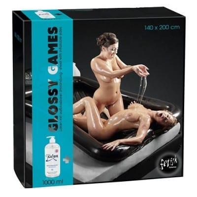 Napihljiva vinilna postelja Glossy Games